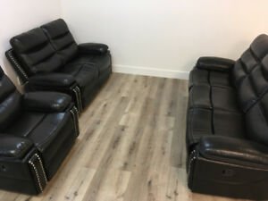 3 PC RECLINER SET WITH MODERN STUD DESIGN