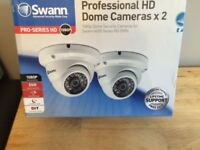 BRAND NEW 2 X Swann 4600 Pro- 1080p HD Dome CCTV Camera Night Vision & Splitter Cable - POST AT COST