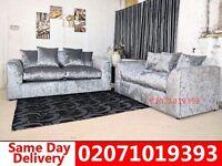 Silver Velvet Silver 3+2 Sofa--Order Now!