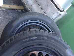 Winter tires and rims for sale West Island Greater Montréal image 2