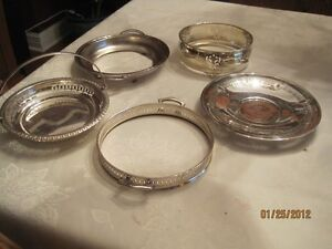 silver plated serving items