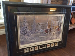 """Framed Douglas Laird """" When there were six"""" signed print"""