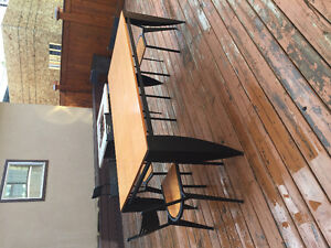 Maple Top Table Set With Four Chairs