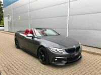 2016 65 reg BMW 420d M Sport Convertible + Grey/ RED Leather + M PERFORMANCE KIT