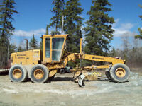 740-A Champion motor grader with wing
