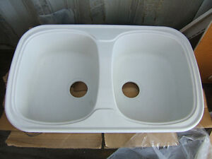 brand new never used double wide kitchen sink by Carran