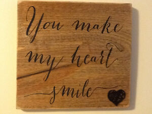 "REALLY NICE ""YOU MAKE MY HEART SMILE"" WOODEN SIGN"