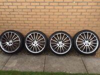 "Mercedes C63 replica alloys 19"" c/w part worn tyres"
