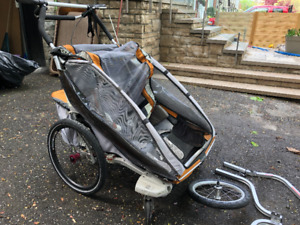 Thule Chariot CX Double trailer stroller with attachments