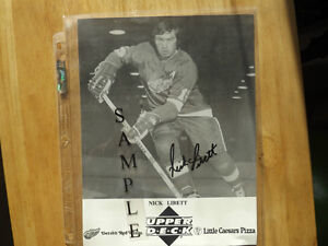 FS: Nick Libett (Detroit Red Wings) Autographed 8x10 B&W Photo London Ontario image 1