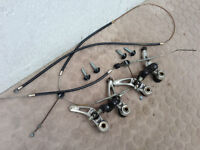 Shimano cantilever mountain bike brakes with cables
