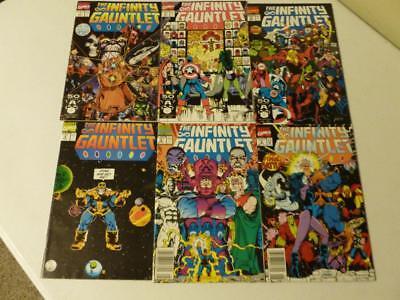 Infinity Gauntlet 1 2 3 4 5 6 Complete Set Marvel War Thanos Avengers