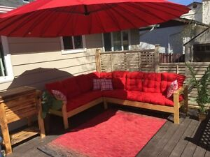 Hand made patio sectional
