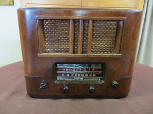 RADIO LINDSAY AIRLINE 1940'S ANTIQUE ANCIEN