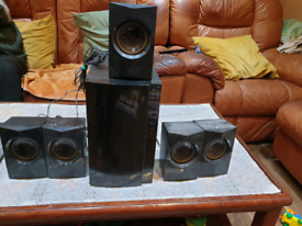 Home Audio Hifi Sound Base Amplifier System With Speakers