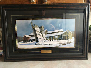 "Framed Print Picture ""Silo's Last Winter"" by William J. Wallace"