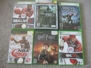 XBOX and XBOX 360 games-$5 each