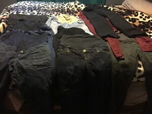 9 pairs of maternity  pants