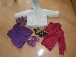 Vêtements et  manteaux printemps pour fille 12-24 mois et Robez