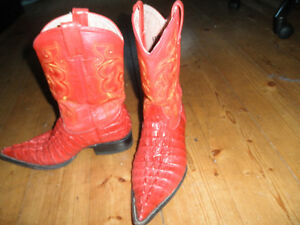 Handmade Red Cowboy Boots