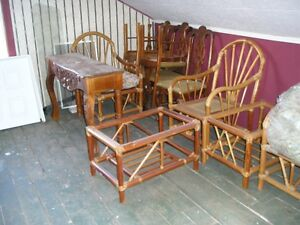 NEW-Matching set of rattan furniture-sofa, chairs, shelf,tables