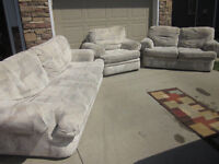 Matching Couch, Love Seat, Chair and Ottoman. Can deliver.