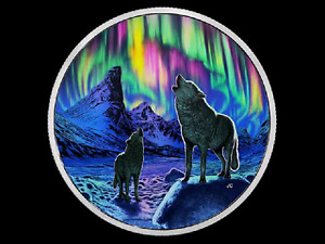 2016 $30 2 OZ NORTHERN LIGHTS: THE WOLVES COIN FOR SALE