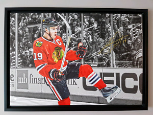 Signed Jonathan Toews 20x29 Canvas with COA
