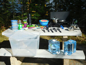 Camping stove and gear