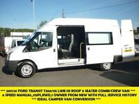 2011 FORD TRANSIT 350/115 LWB HI ROOF 9 SEATER CREW/COMBI VAN, 1 OWNER FROM NEW
