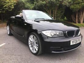 2008 BMW 125I SE CONVERTIBLE 3.0 PETROL IN BLACK WITH FULL BEIGE LEATHER