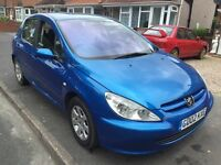 2002 Peugeot 307 1.6 needs mot cheap