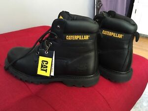 Brand new caterpillar black safety boots never used!