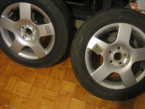 "Audi A4 B6 16"" Alloy Wheels 5 Spoke"