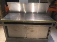 Stainless Steel Work Table High Splash Back