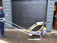 SOLD Chariot stroller with cross country ski attachment