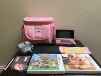 Nintendo 3DS + 2 3DS Games, charger, travel bag etc.