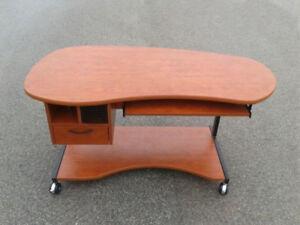 Desk on wheels