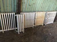 7 CAST IRON VINTAGE RADIATORS FOR RESTORATION