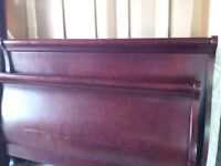 Sleigh Bed  Q. S. & Mattress clean
