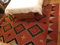 Massive rug ethnic design carpet, excellent condition from Morocco.