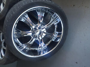 aaa++ REAL CHROME 24INCHES RIMS 6INCH DEEP DISH