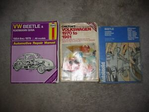 VW Volkswagen Beetle Repair Manuals $10 For All Three