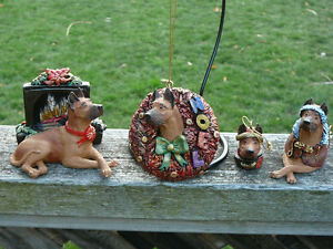 cropped fawn Great Dane Christmas Ornaments