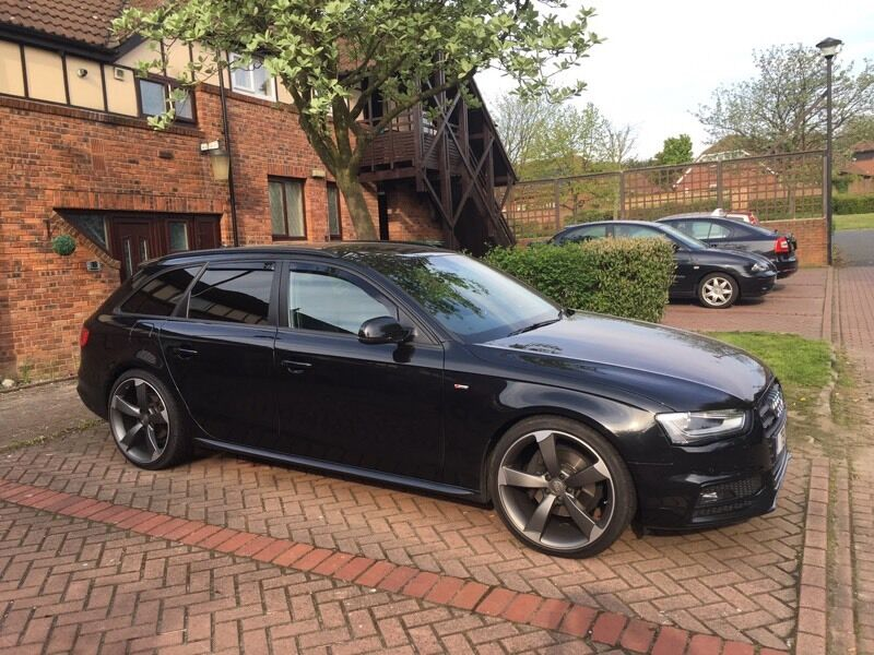 audi a4 avant black edition 3 0 tdi 2012 sline in washington tyne and wear gumtree. Black Bedroom Furniture Sets. Home Design Ideas
