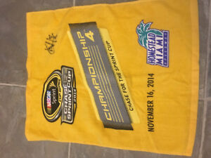 Matt Kenseth autographed chase for the cup towel