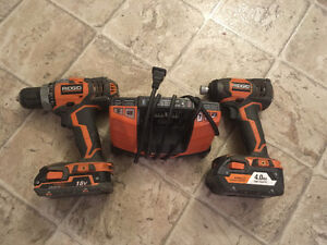 Ridgid 18v drill and impact set