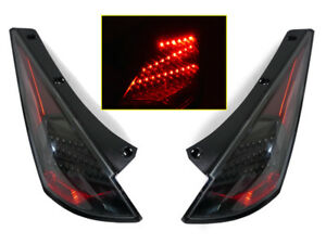 LAST SETS DEPO Black LED Tail Lights Pair FOR 2003 2004 2005 Nissan 350Z Z33 Z