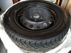 4 Snow tires on rims used 2 winters in Victoria