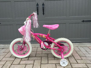 Girls Pink Disney Princess Shimmer Bike